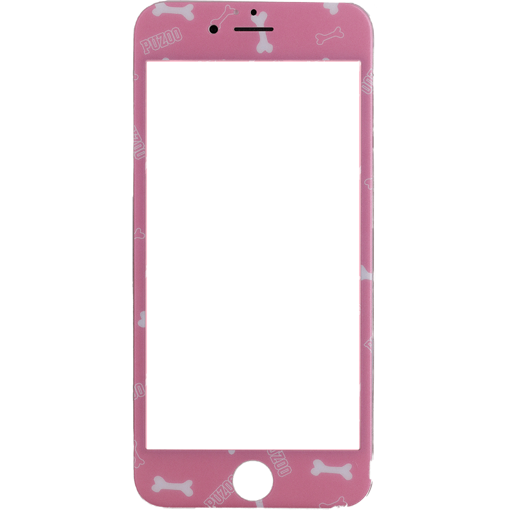 online store 1c2bb 2eb0f Puzoo tempered glass 0.33 full 3d pink screen protector Apple Iphone 6 Plus  / S Plus
